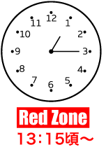 Red Zone 13:35頃〜