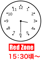 Red Zone 15:30頃〜